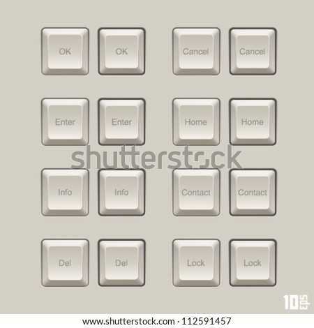 keyboard keys vector set - stock vector