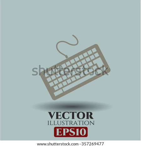 Keyboard vector icon or symbol - stock vector