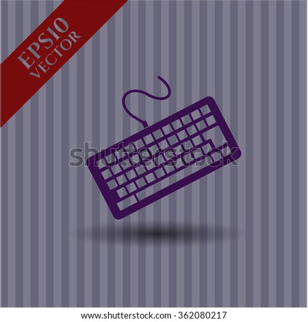 Keyboard vector symbol - stock vector