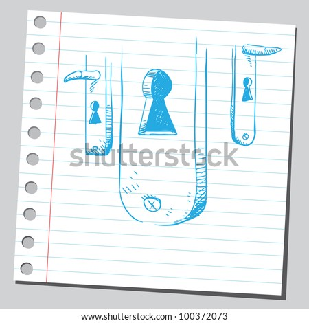 Keyholes - stock vector