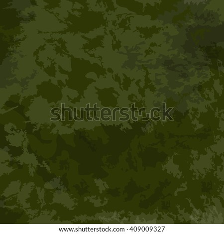 Khaki, texture, camouflage, background. Vector green camouflage pattern - stock vector