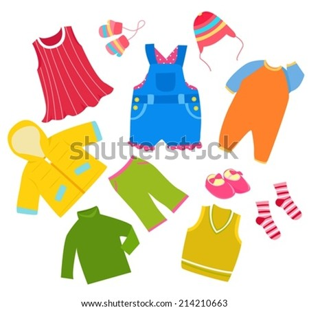 Kid clothes - stock vector
