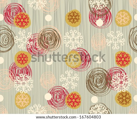 Kid's background with a snowflakes, Modern style - stock vector