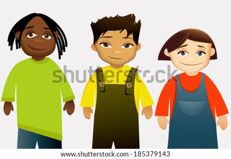 Kids - stock vector