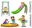 kids at the playground - stock vector
