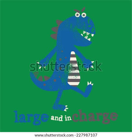 Kids Dino Verbiage Tshirt Graphic - stock vector
