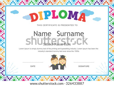 Sample Certificates For Kids  Resume Template Sample