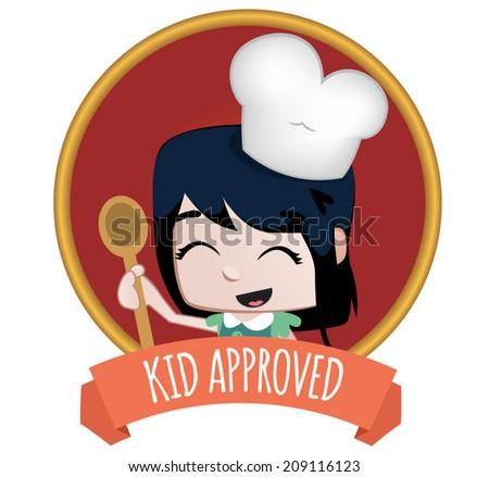 Kids food label - stock vector