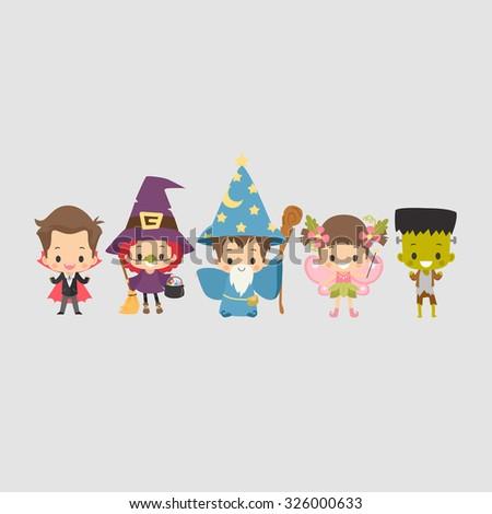 Kids Halloween Costume - stock vector