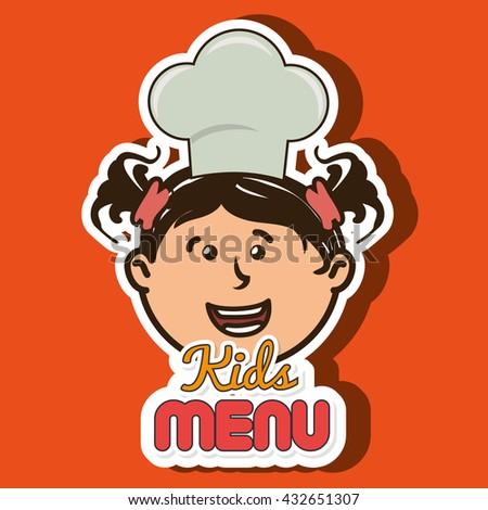 kids menu design  - stock vector