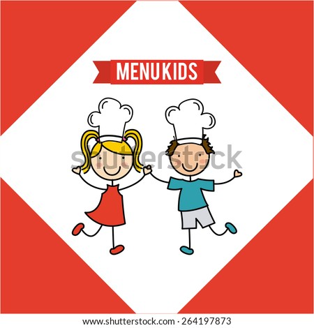 kids menu design, vector illustration eps10 graphic  - stock vector
