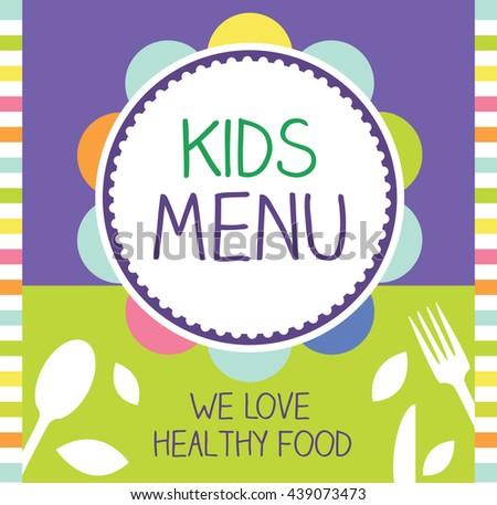 kids menu vector design - stock vector