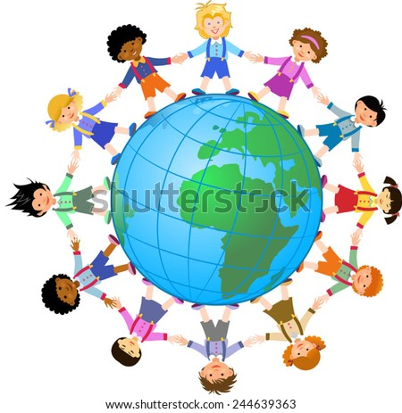 Kids of the world. - stock vector