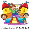 Kids play theme image 9 - eps10 vector illustration. - stock vector