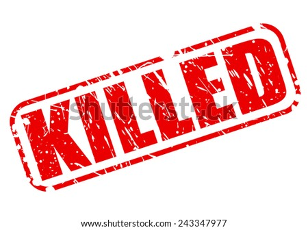 Killed red stamp text on white - stock vector