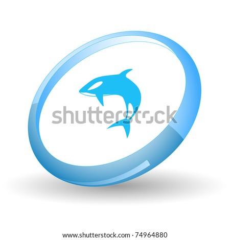 Killer whale. Vector icon. - stock vector