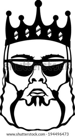 King beard vector - stock vector
