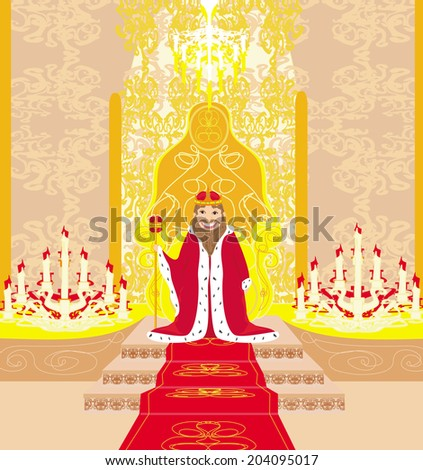 king in chamber - stock vector