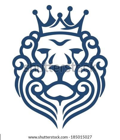 king lion - stock vector