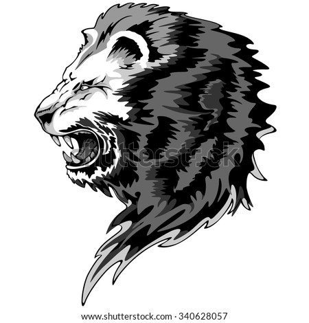 Lion roar vector - photo#2