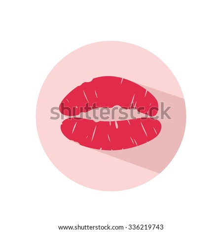kiss icon, vector illustration, artwork, graphic design,abstract - stock vector