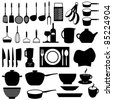 Kitchen and cooking tools utensils - stock vector