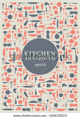 Kitchen background vector items - stock vector
