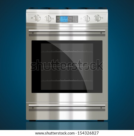 Kitchen - Gas stove - stock vector