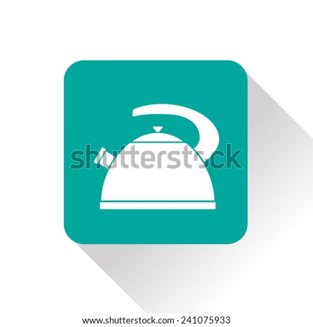 kitchen icon of kettle - stock vector