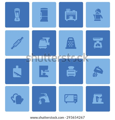 kitchen icon set - stock vector