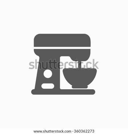 kitchen mixer icon - stock vector