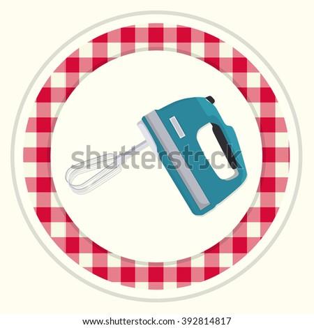 Kitchen mixer icon. Kitchen mixer symbol.  Kitchen mixer bottom. Kitchen mixer logo.  Kitchen mixer emblem. Kitchen mixer label. Kitchen mixer badge. - stock vector