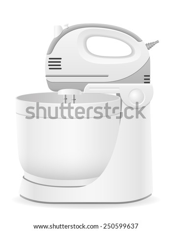 kitchen mixer vector illustration isolated on white background - stock vector