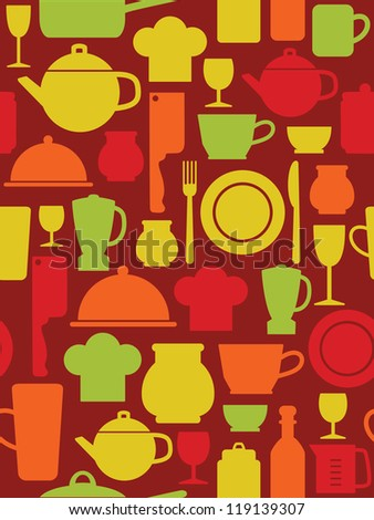 kitchen pattern design. vector illustration - stock vector