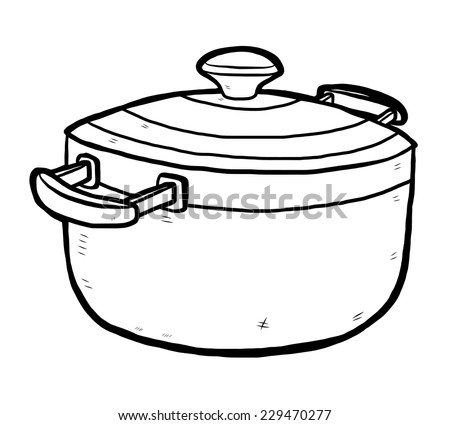 stock vector kitchen pot cartoon vector and illustration black and white hand drawn sketch style isolated 229470277 100 amp sub panel wiring diagram 100 find image about wiring,Wiring Diagram For Amp