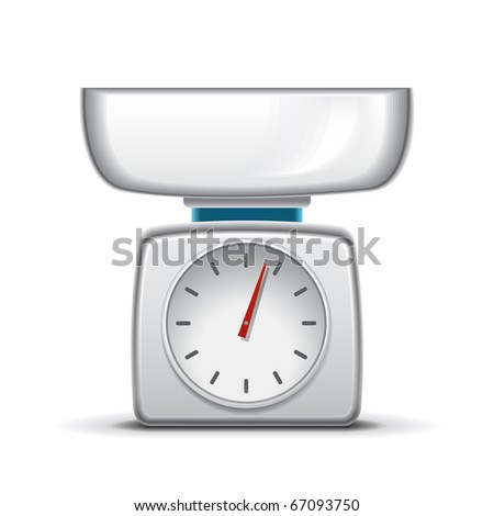 Kitchen scale - stock vector