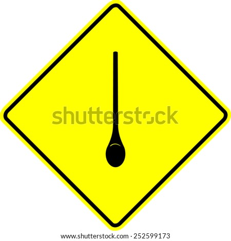 kitchen spoon sign - stock vector