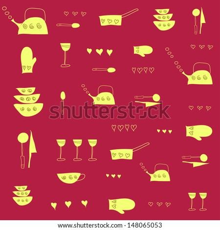 Kitchen tools. Vector illustration  - stock vector