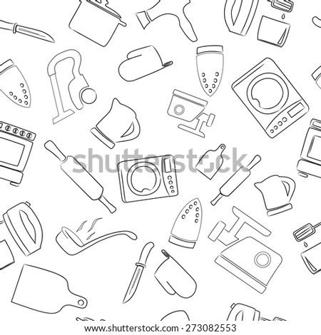Kitchen Utensils  - Illustration.  - stock vector