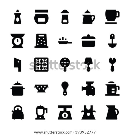 Kitchen Utensils Vector Icons 10 - stock vector
