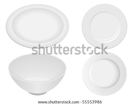 Kitchen ware elements isolated on white background - stock vector