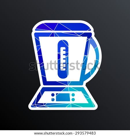 kitchenware electric juicer electric squeezer kitchen maker liquid tool  icon. - stock vector