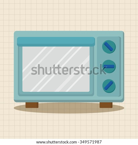 Kitchenware microwave oven theme elements - stock vector