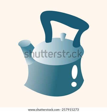 kitchenware tea pot theme elements - stock vector