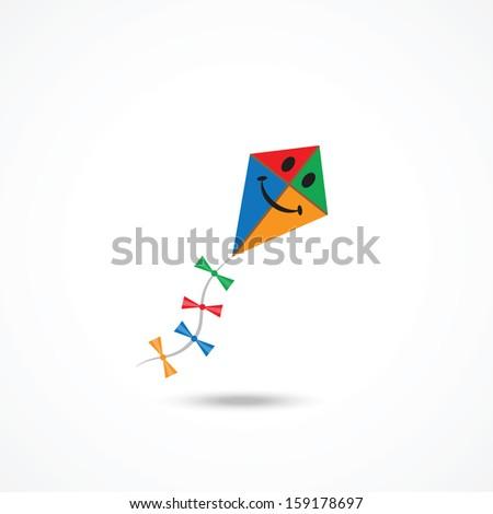Kite icon - stock vector