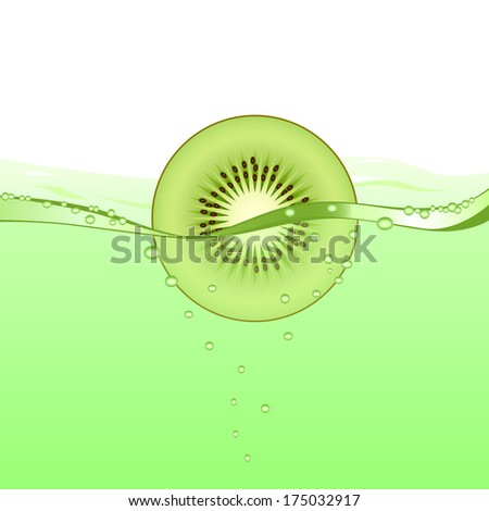 Kiwi drink (vector version; available as raster too) - stock vector