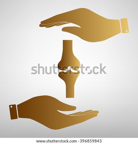 Knee joint  sign - stock vector