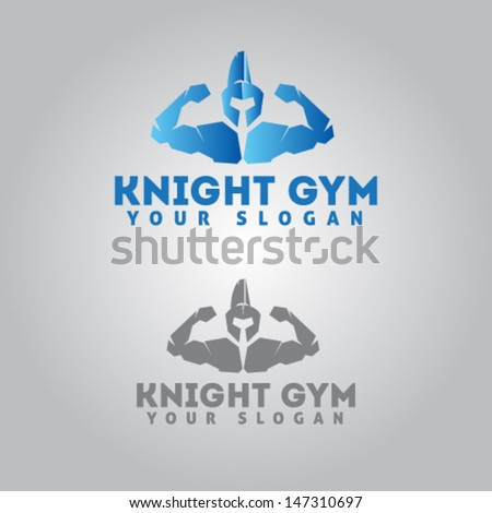 Knight Icon for Gym Illustration Vector - stock vector