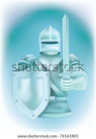 Knight in armor - stock vector