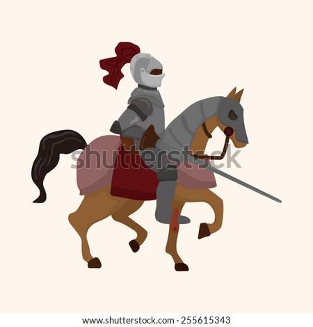 knight theme elements vector,eps - stock vector